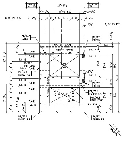 Tilt up Panel Shop Drawing Tilt-up Concrete Documentation